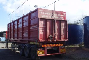 Dewatering Container Transit